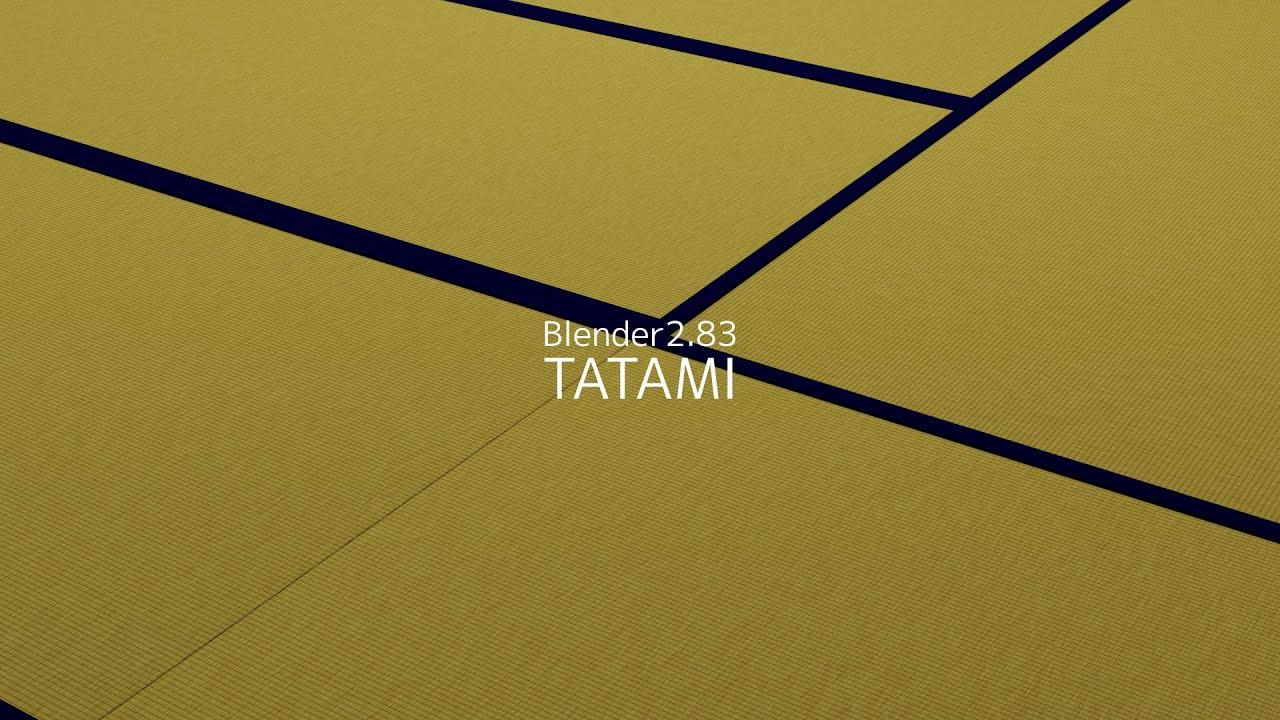 【Blender】TATAMI Node【作業動画】