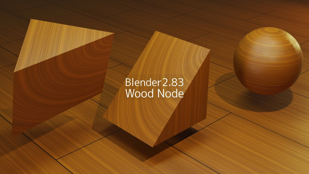 【Blender】Wood Node【作業動画】